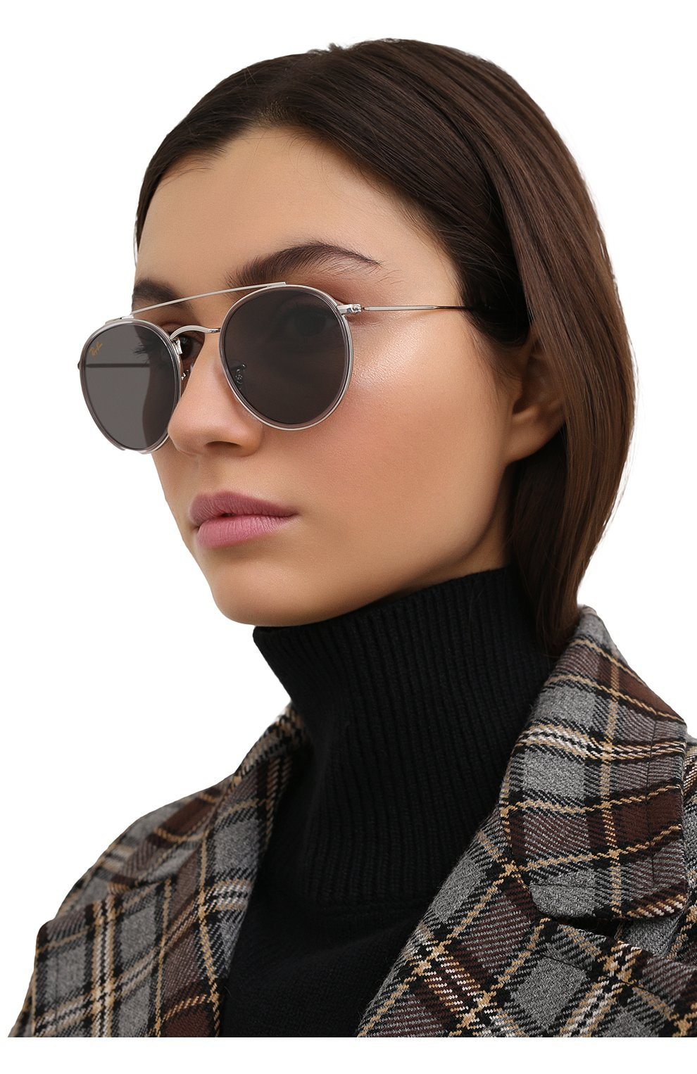 Женские солнцезащитные очки RAY-BAN серого цвета, арт. 3647N-9211B1 | Фото 2