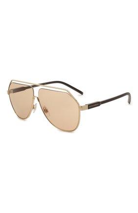 Мужские солнцезащитные очки DOLCE & GABBANA светло-коричневого цвета, арт. 2266-02/73 | Фото 1