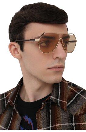 Мужские солнцезащитные очки DOLCE & GABBANA светло-коричневого цвета, арт. 2266-02/73 | Фото 2