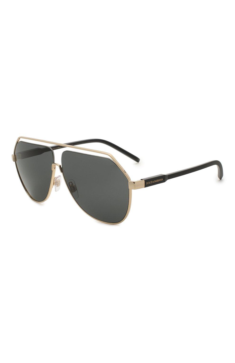 Мужские солнцезащитные очки DOLCE & GABBANA черного цвета, арт. 2266-02/87 | Фото 1