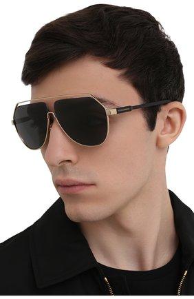 Мужские солнцезащитные очки DOLCE & GABBANA черного цвета, арт. 2266-02/87 | Фото 2