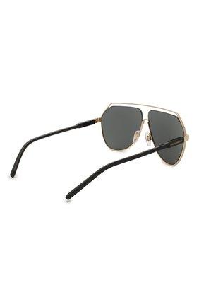 Мужские солнцезащитные очки DOLCE & GABBANA черного цвета, арт. 2266-02/87 | Фото 4