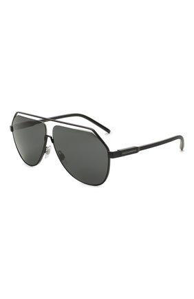 Мужские солнцезащитные очки DOLCE & GABBANA черного цвета, арт. 2266-110687 | Фото 1