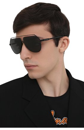 Мужские солнцезащитные очки DOLCE & GABBANA черного цвета, арт. 2266-110687 | Фото 2