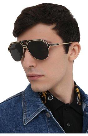 Мужские солнцезащитные очки DOLCE & GABBANA черного цвета, арт. 2257-133487 | Фото 2