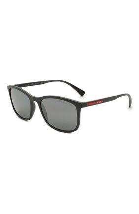 Мужские солнцезащитные очки PRADA LINEA ROSSA темно-серого цвета, арт. 01TS-UFK07H   Фото 1