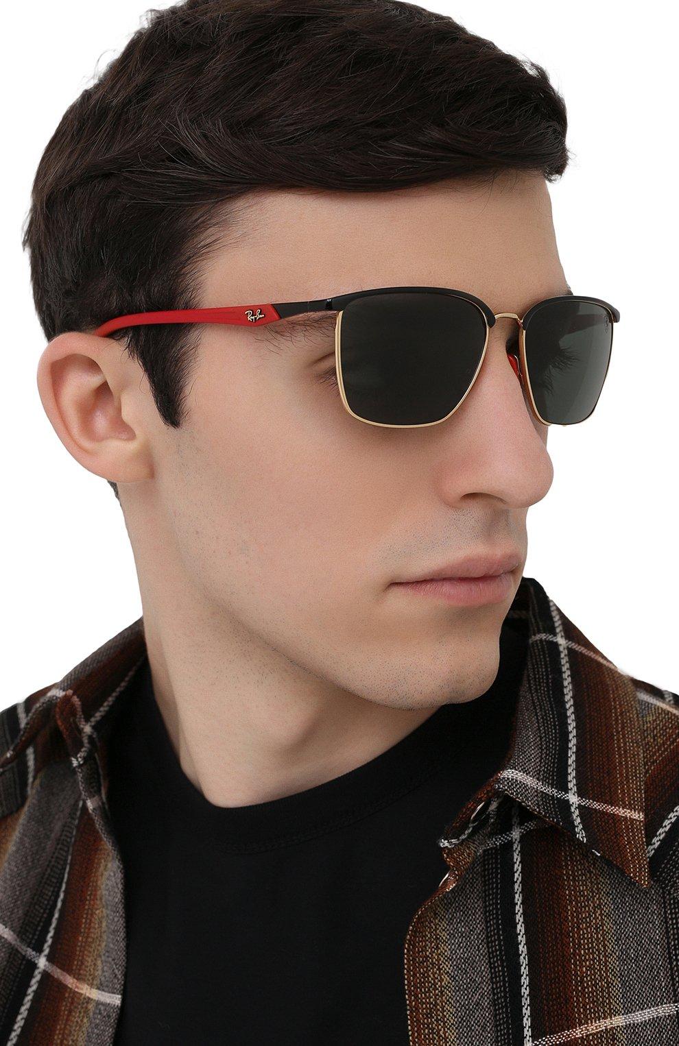 Мужские солнцезащитные очки RAY-BAN черного цвета, арт. 3673M-F06171 | Фото 2