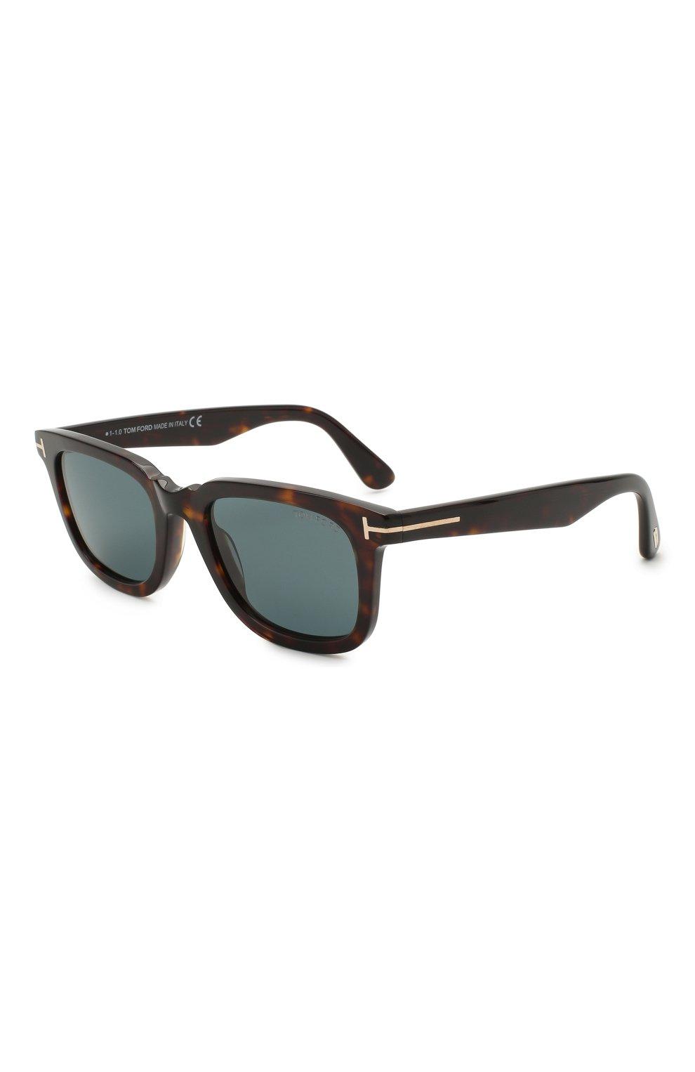 Мужские солнцезащитные очки TOM FORD коричневого цвета, арт. TF817 52V 53 | Фото 1
