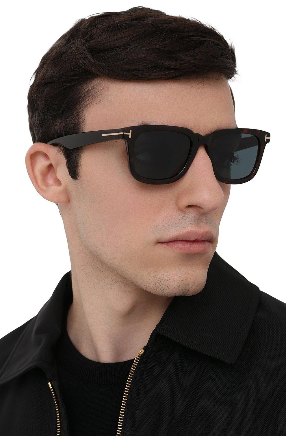 Мужские солнцезащитные очки TOM FORD коричневого цвета, арт. TF817 52V 53 | Фото 2