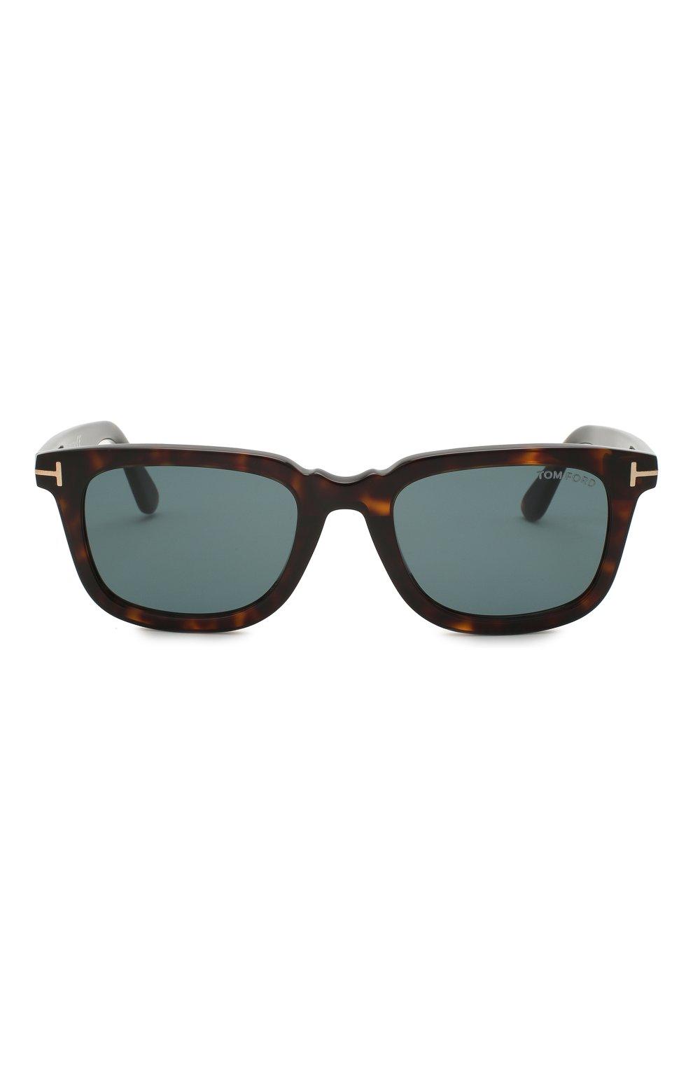 Мужские солнцезащитные очки TOM FORD коричневого цвета, арт. TF817 52V 53 | Фото 3