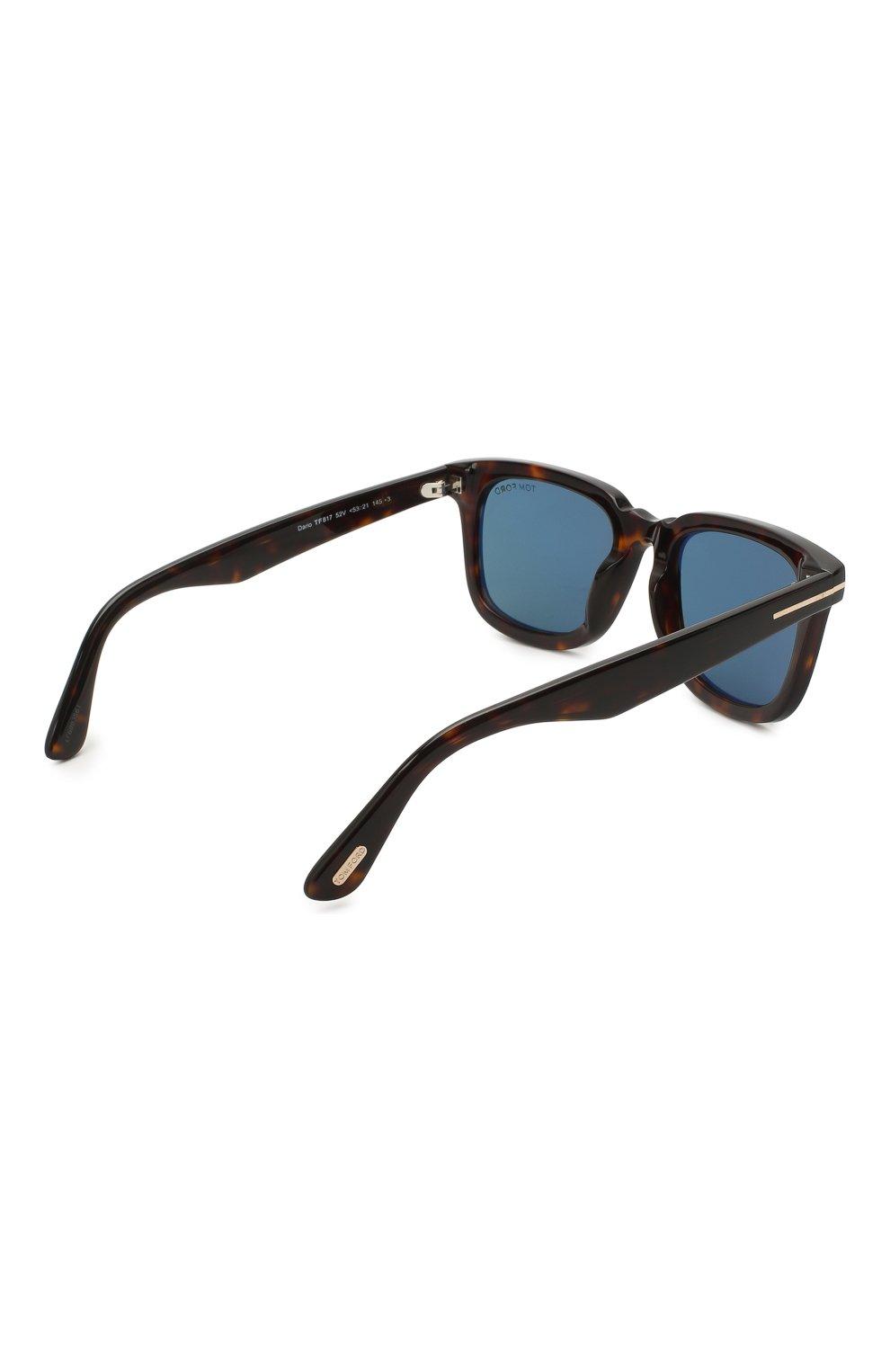 Мужские солнцезащитные очки TOM FORD коричневого цвета, арт. TF817 52V 53 | Фото 4