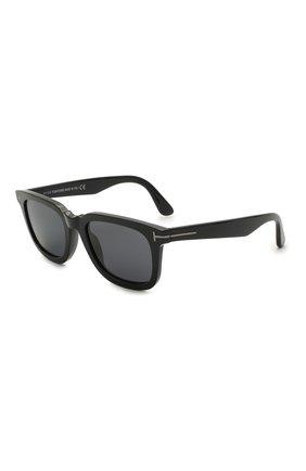 Мужские солнцезащитные очки TOM FORD черного цвета, арт. TF817-N 01A 53 | Фото 1