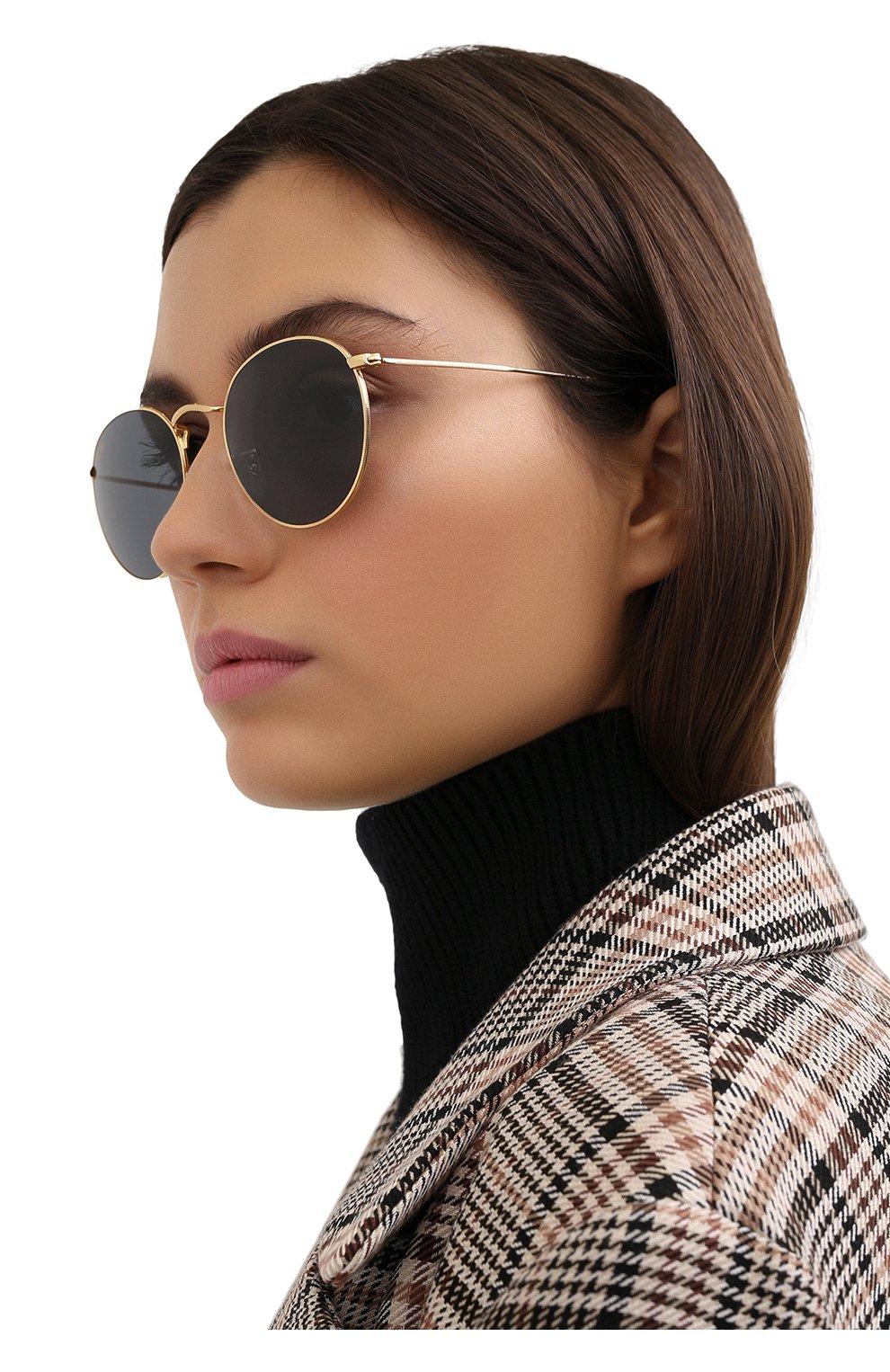 Женские солнцезащитные очки RAY-BAN золотого цвета, арт. 3447-9196R5   Фото 2
