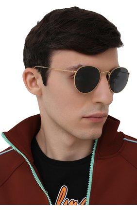 Женские солнцезащитные очки RAY-BAN золотого цвета, арт. 3447-9196R5   Фото 3