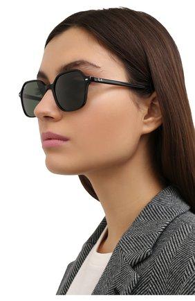 Женские солнцезащитные очки RAY-BAN черного цвета, арт. 2194-901/31 | Фото 2