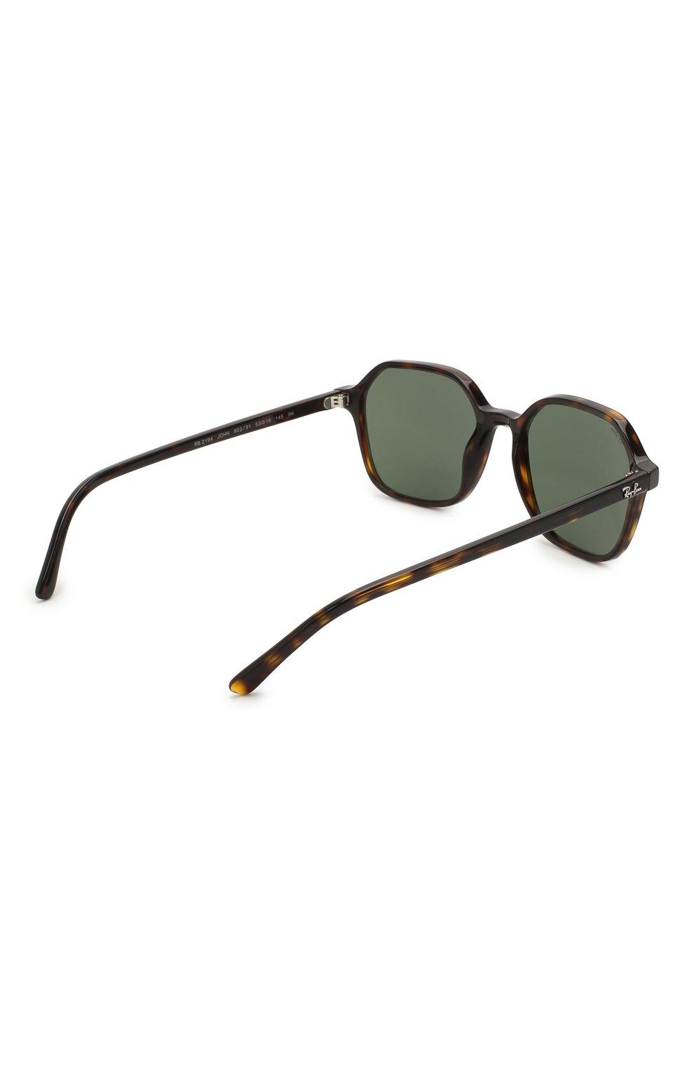 Женские солнцезащитные очки RAY-BAN коричневого цвета, арт. 2194-902/31 | Фото 5