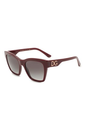 Женские солнцезащитные очки DOLCE & GABBANA бордового цвета, арт. 4384-30918G | Фото 1 (Тип очков: С/з; Очки форма: Квадратные; Оптика Гендер: оптика-женское)