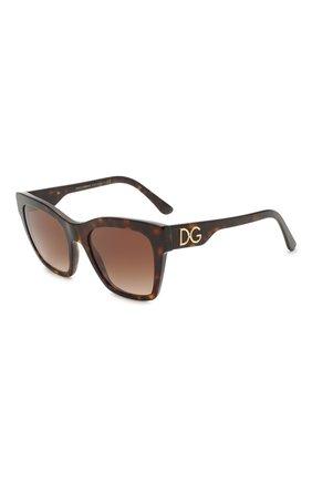 Женские солнцезащитные очки DOLCE & GABBANA коричневого цвета, арт. 4384-502/13 | Фото 1 (Тип очков: С/з; Оптика Гендер: оптика-женское; Очки форма: Квадратные)