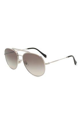 Женские солнцезащитные очки MIU MIU серебряного цвета, арт. 53VS-1BC500 | Фото 1