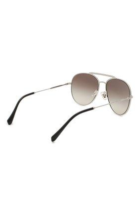 Женские солнцезащитные очки MIU MIU серебряного цвета, арт. 53VS-1BC500 | Фото 4