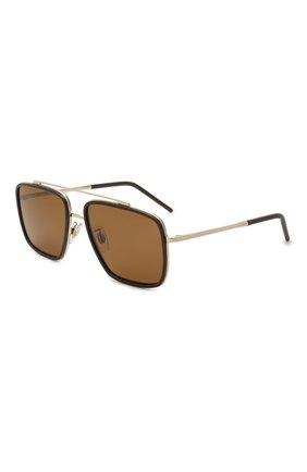 Мужские солнцезащитные очки DOLCE & GABBANA черного цвета, арт. 2220-488/83 | Фото 1
