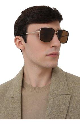 Мужские солнцезащитные очки DOLCE & GABBANA черного цвета, арт. 2220-488/83 | Фото 2