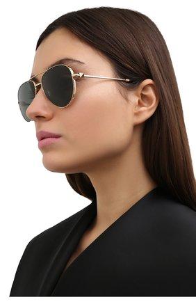 Женские солнцезащитные очки VALENTINO золотого цвета, арт. 2034-300271 | Фото 2