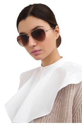 Женские солнцезащитные очки VALENTINO коричневого цвета, арт. 2034-300313 | Фото 2