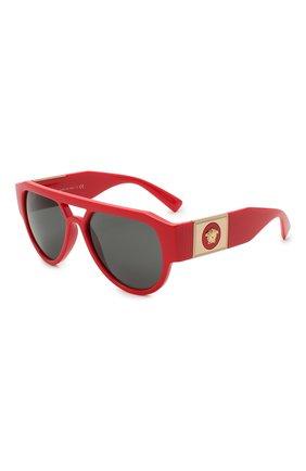 Женские солнцезащитные очки VERSACE красного цвета, арт. 4401-530987 | Фото 1