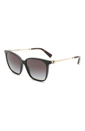 Женские солнцезащитные очки VALENTINO черного цвета, арт. 4078-50018G | Фото 1