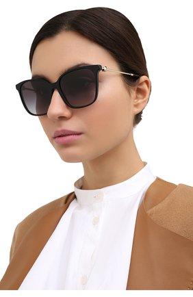 Женские солнцезащитные очки VALENTINO черного цвета, арт. 4078-50018G | Фото 2