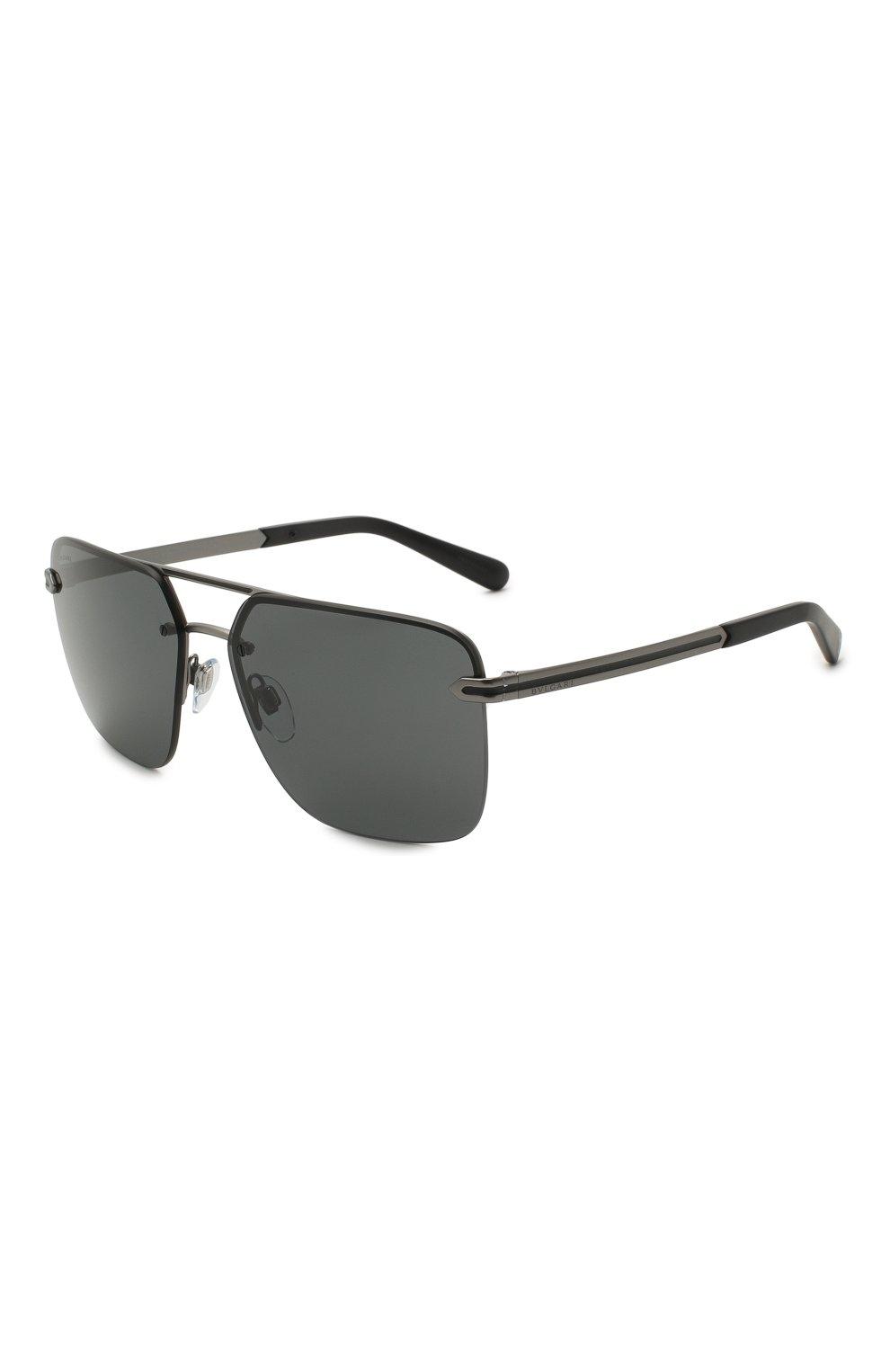 Мужские солнцезащитные очки BVLGARI черного цвета, арт. 5054-195/87   Фото 1