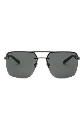 Мужские солнцезащитные очки BVLGARI черного цвета, арт. 5054-195/87   Фото 3