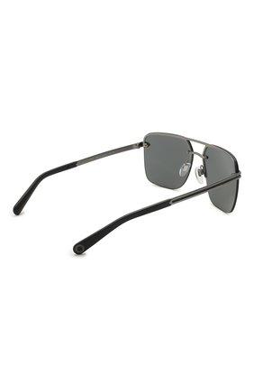 Мужские солнцезащитные очки BVLGARI черного цвета, арт. 5054-195/87   Фото 4