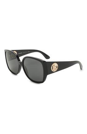 Женские солнцезащитные очки BURBERRY черного цвета, арт. 4290-300187   Фото 1