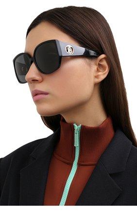 Женские солнцезащитные очки BURBERRY черного цвета, арт. 4290-300187   Фото 2