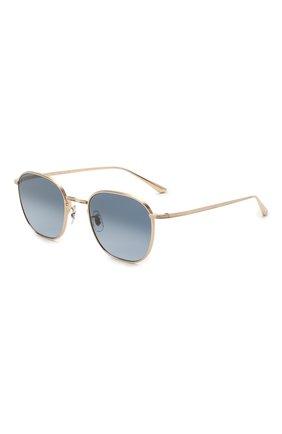 Женские солнцезащитные очки THE ROW X OLIVER PEOPLES синего цвета, арт. 1230ST-5035Q8 | Фото 1 (Тип очков: С/з; Очки форма: Круглые; Оптика Гендер: оптика-унисекс)