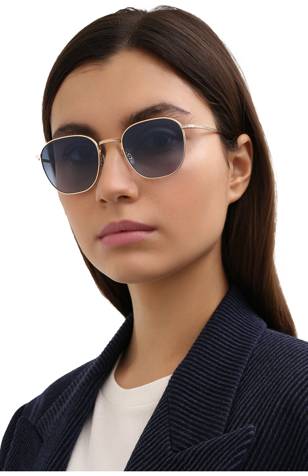 Женские солнцезащитные очки THE ROW X OLIVER PEOPLES синего цвета, арт. 1230ST-5035Q8 | Фото 2 (Тип очков: С/з; Очки форма: Круглые; Оптика Гендер: оптика-унисекс)