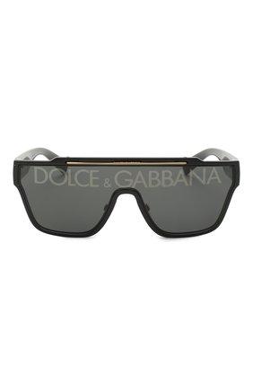 Мужские солнцезащитные очки DOLCE & GABBANA черного цвета, арт. 6125-501/M   Фото 3 (Очки форма: Маска, D-форма; Тип очков: С/з; Оптика Гендер: оптика-мужское)