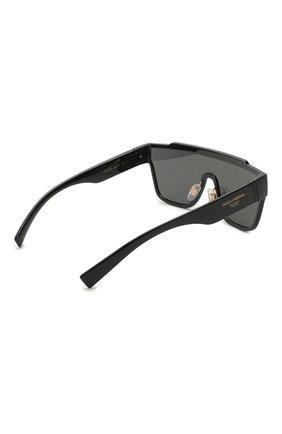 Мужские солнцезащитные очки DOLCE & GABBANA черного цвета, арт. 6125-501/M   Фото 4 (Очки форма: Маска, D-форма; Тип очков: С/з; Оптика Гендер: оптика-мужское)