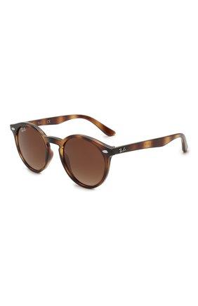 Детские солнцезащитные очки RAY-BAN коричневого цвета, арт. 9064S-152/13 | Фото 1