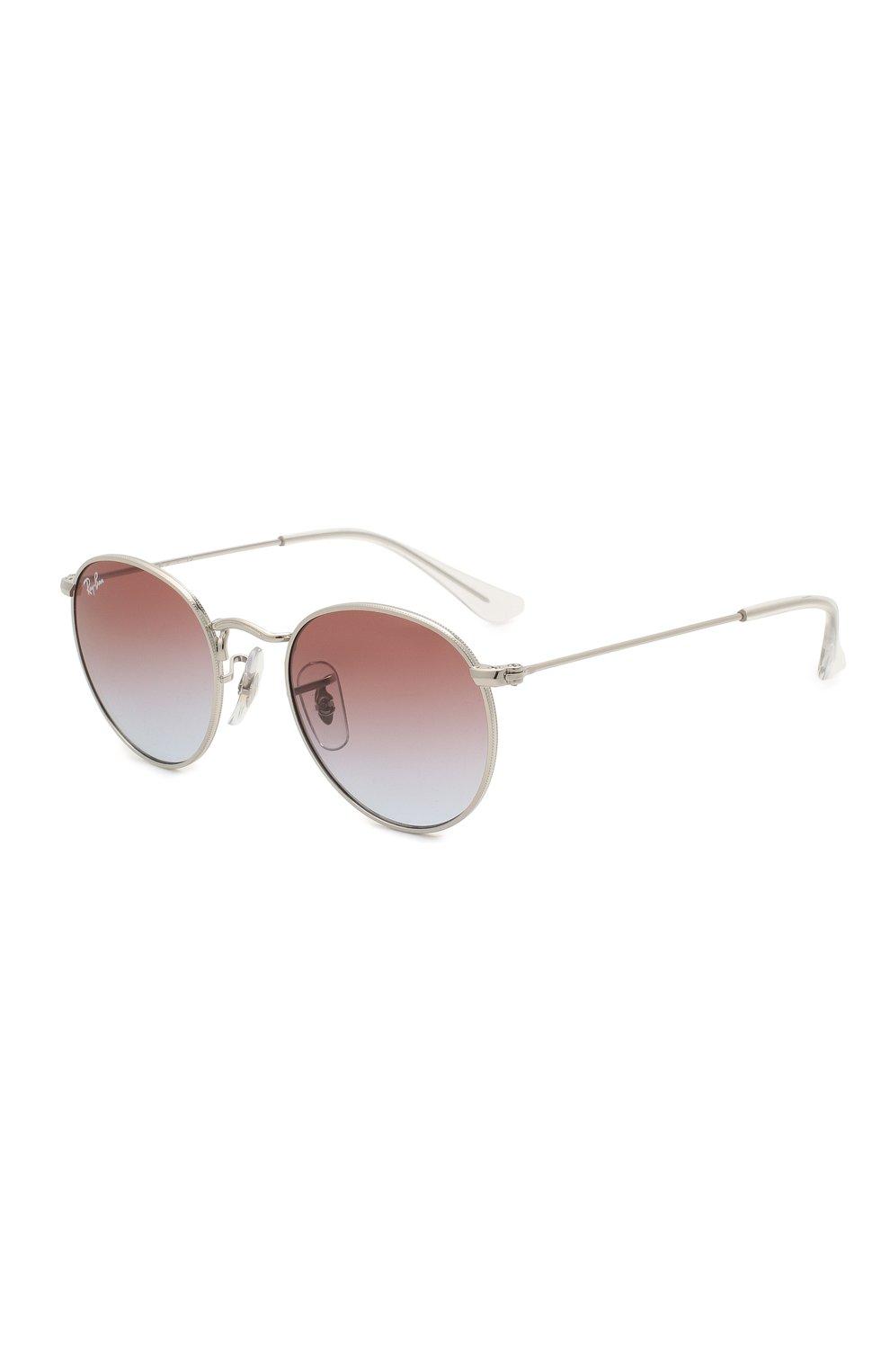 Детские солнцезащитные очки RAY-BAN серебряного цвета, арт. 9547S-212/I8   Фото 1