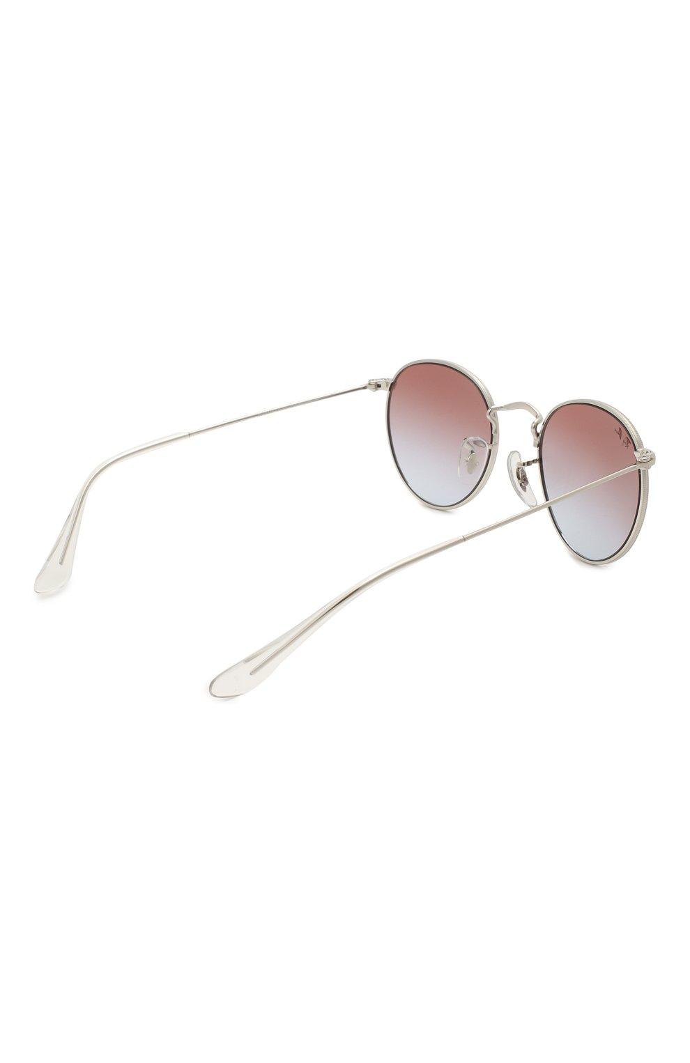 Детские солнцезащитные очки RAY-BAN серебряного цвета, арт. 9547S-212/I8   Фото 3