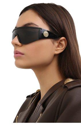 Женские солнцезащитные очки VERSACE черного цвета, арт. 2197-126187 | Фото 2