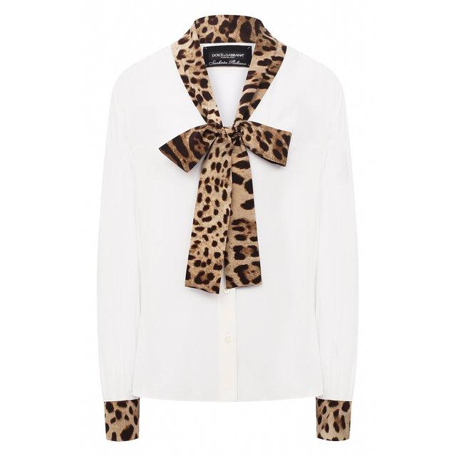 Блузка из вискозы и шелка Dolce & Gabbana