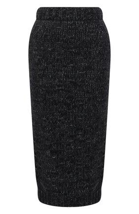 Женская шерстяная юбка DOLCE & GABBANA черного цвета, арт. FXA35T/JAM66 | Фото 1