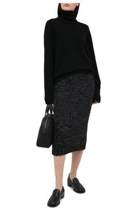 Женская шерстяная юбка DOLCE & GABBANA черного цвета, арт. FXA35T/JAM66 | Фото 2