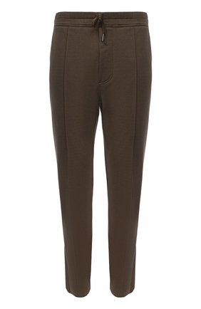 Мужские брюки TOM FORD зеленого цвета, арт. BW250/TFJ974   Фото 1 (Случай: Повседневный; Стили: Кэжуэл; Длина (брюки, джинсы): Стандартные; Материал внешний: Хлопок)