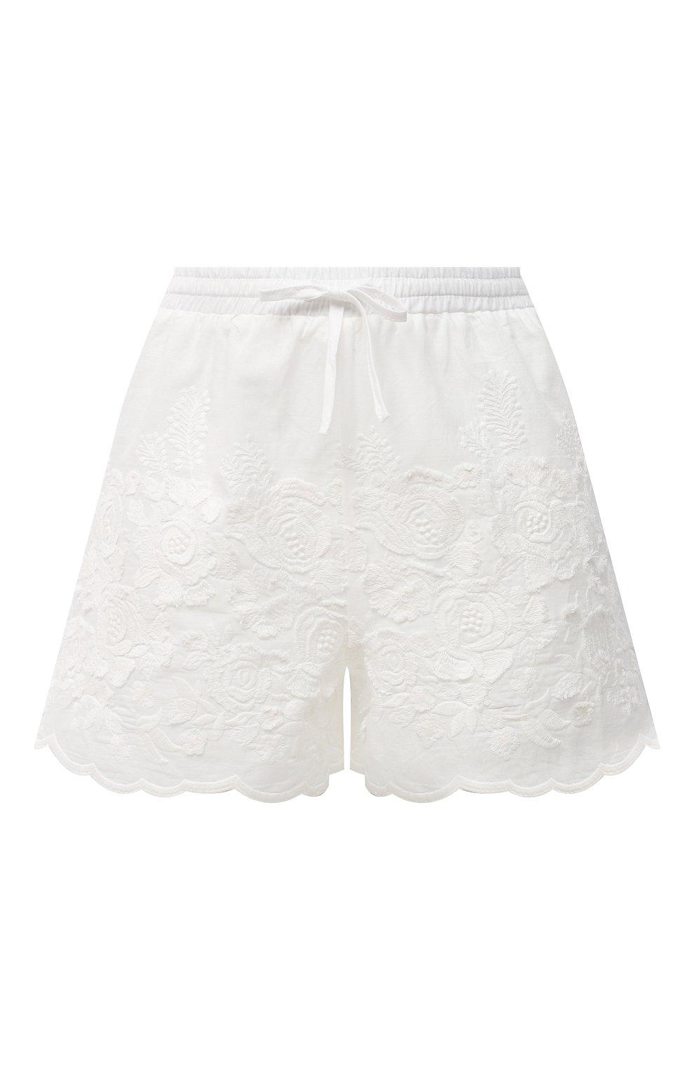 Женские хлопковые шорты EVA B.BITZER светло-бежевого цвета, арт. 10312245 | Фото 1 (Женское Кросс-КТ: Шорты-одежда, Шорты-пляжная одежда; Длина Ж (юбки, платья, шорты): Мини; Материал внешний: Хлопок; Стили: Бохо)