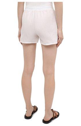 Женские хлопковые шорты EVA B.BITZER светло-бежевого цвета, арт. 10312245 | Фото 4 (Женское Кросс-КТ: Шорты-одежда, Шорты-пляжная одежда; Длина Ж (юбки, платья, шорты): Мини; Материал внешний: Хлопок; Стили: Бохо)